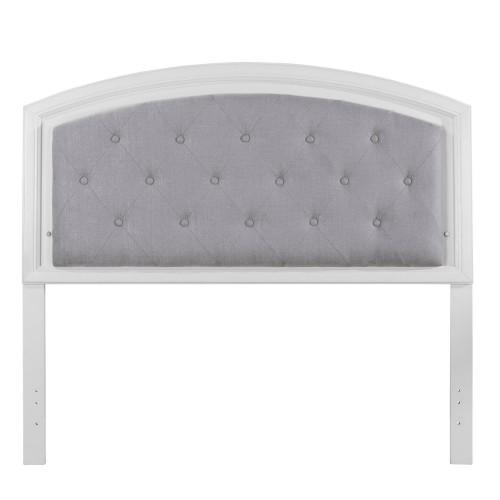 Lyndon Lane Upholstered Panel Led Lighted Headboard - White