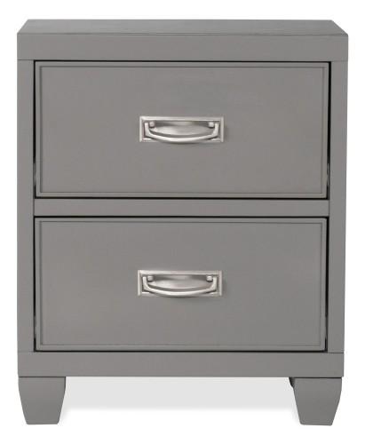 Lyndon Lane 2-Drawer Wood Nightstand - Gray