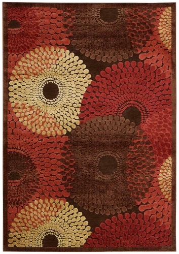 Graphic Illusions GIL04 Brown Area Rug