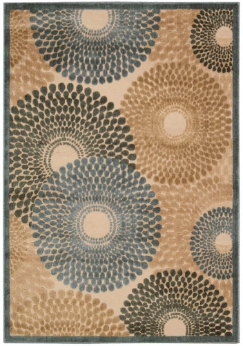 Graphic Illusions GIL04 Teal Area Rug