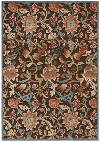 Graphic Illusions GIL06 Brown Area Rug