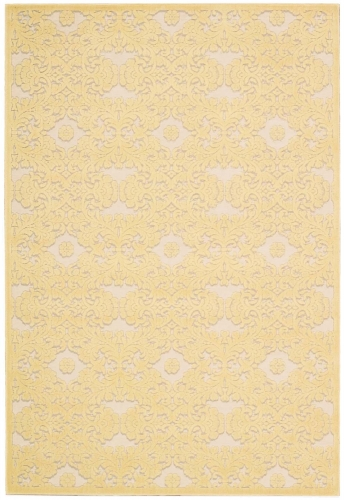 Graphic Illusions GIL07 Yellow Area Rug