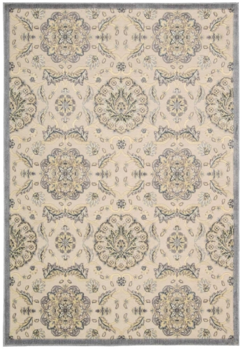 Graphic Illusions GIL12 Ivory Area Rug