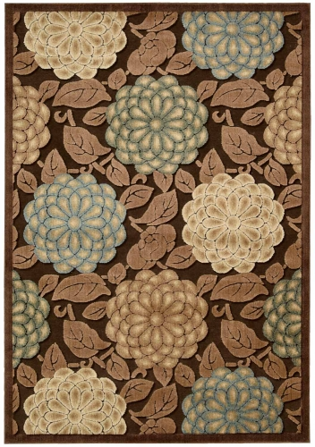 Graphic Illusions GIL13 Brown Area Rug