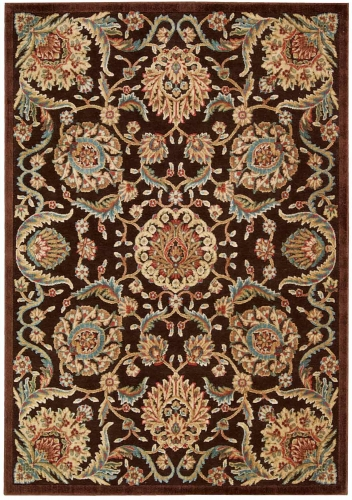 Graphic Illusions GIL17 Chocolate Area Rug