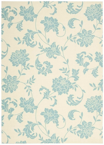 Home and Garden RS014 Ivory Area Rug