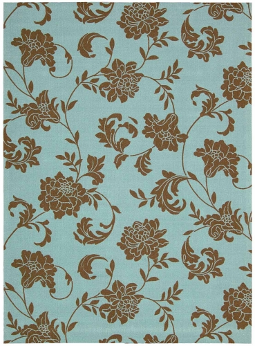 Home and Garden RS014 Light Blue Area Rug
