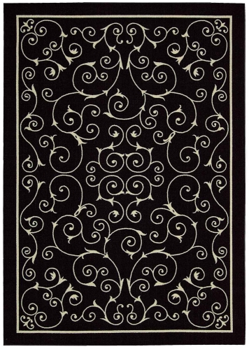 Home and Garden RS019 Black Area Rug