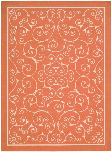 Home and Garden RS019 Orange Area Rug