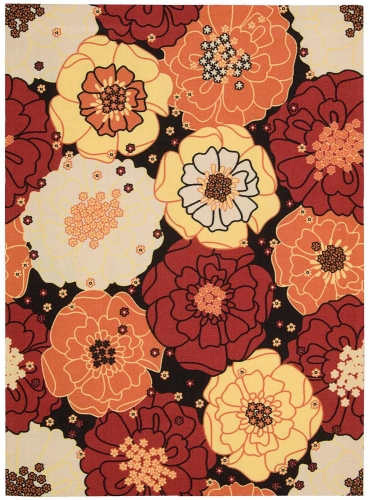 Home and Garden RS021 Black Area Rug