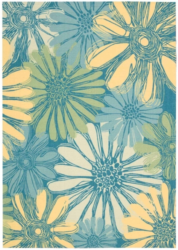 Home and Garden RS022 Blue Area Rug