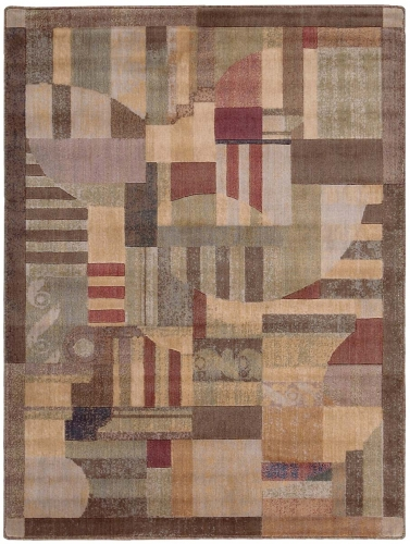 Nourison Somerset ST22 Multi Color Area Rug