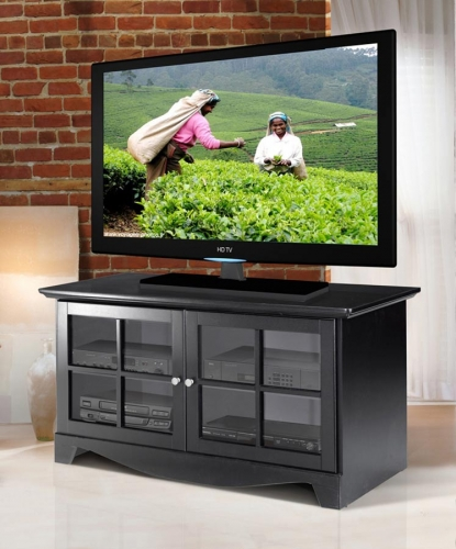 Pinnacle 49 Inch TV Console with Door - Black