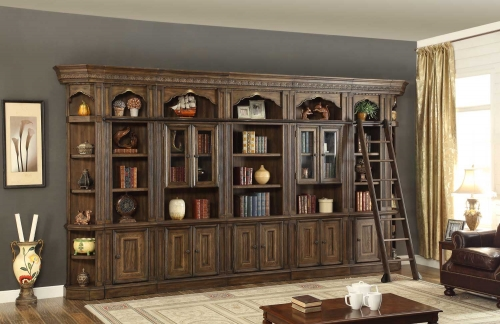 Aria Bookcase Library Wall Unit