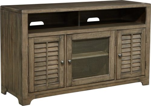 Austin 55-inch TV Console with Louvered Doors