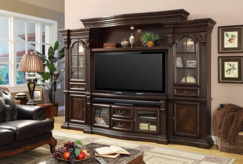 Bella 4 Pc Estate Wall Entertainment Center