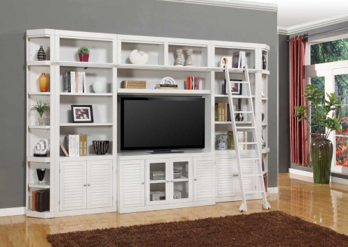Boca Library Bookcase Entertainment Set - D