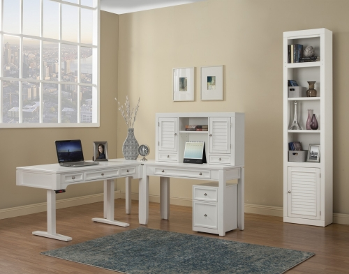 Parker House Boca Home Office Set 2 - Cottage White