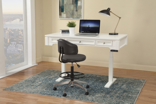 Boca 57-inch Power Lift Desk - Cottage White