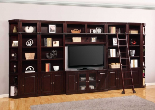 Boston Library Bookcase Entertainment Set - E