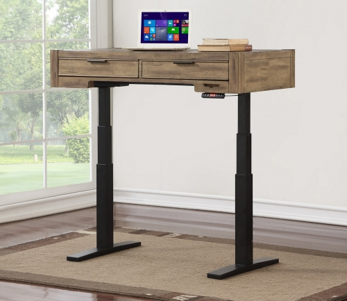 Brighton 48-inch Power Lift Desk - Antique Vintage Muslin