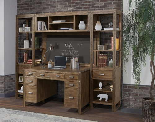 Brooklyn Home Office Set 2 - Antique Burnished Pine