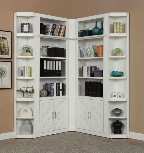 Catalina Library Corner Bookcase Set