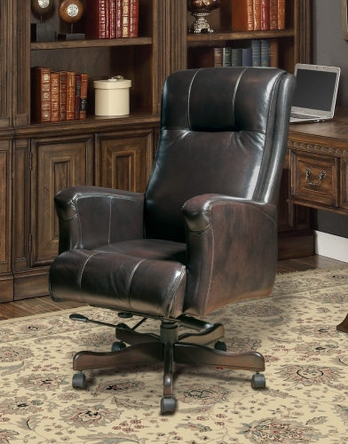Prestige DC-103-SB Leather Desk Chair - Sable