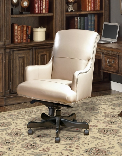 Prestige DC-106-BI Leather Desk Chair - Biscuit