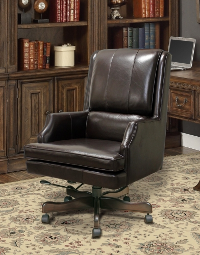 Prestige DC-107-SB Leather Desk Chair - Sable