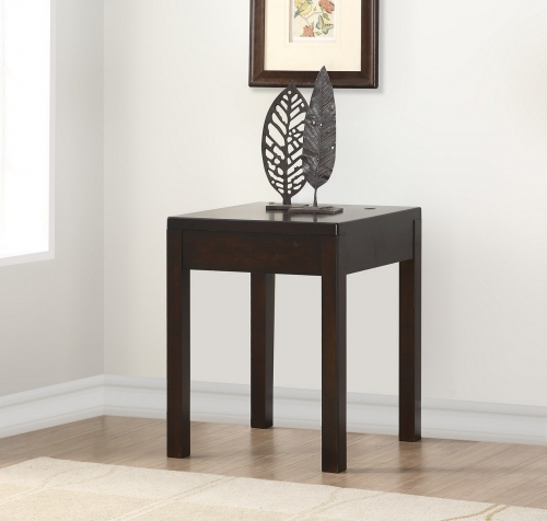 Parker House Greenwich Corner Table - Dark Walnut