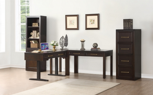 Greenwich Home Office Set 1 - Dark Walnut