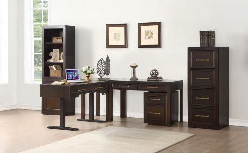 Greenwich Home Office Set 2 - Dark Walnut
