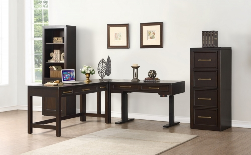 Greenwich Home Office Set 3 - Dark Walnut