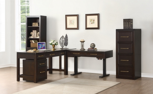 Greenwich Home Office Set 5 - Dark Walnut