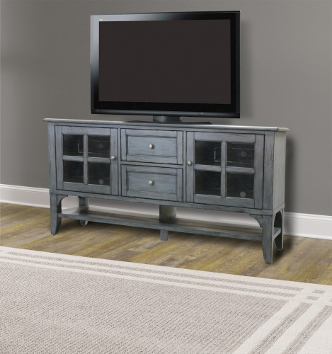 Highland 63-inch TV Console - Antique Vintage Moss