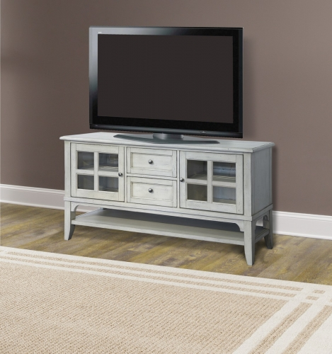 Hilton 63-inch TV Console - Antique Vintage Storm