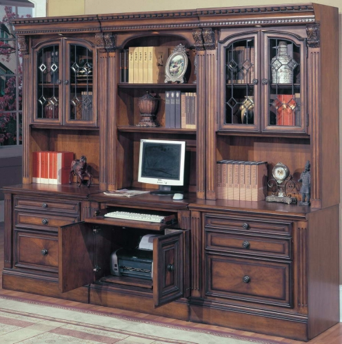 Huntington Home Office Suite 6pc Modular Computer Home Office Set