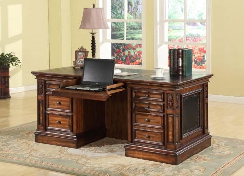 Parker House Leonardo Double Pedestal Executive Desk