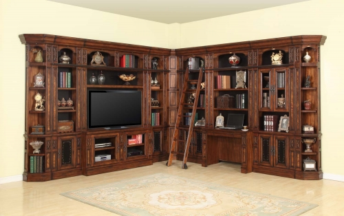 Leonardo Library Wall Unit Bookcase Set 3
