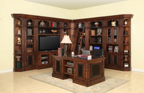 Leonardo Library Wall Unit Bookcase Set 4