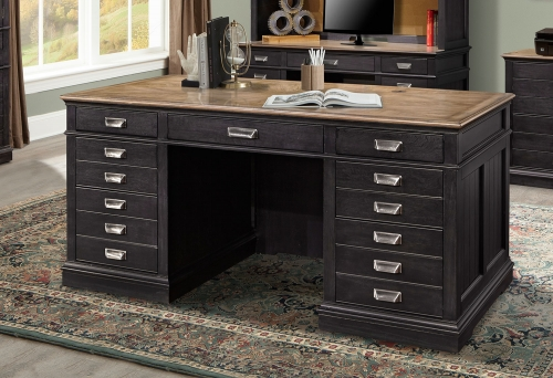 Lincoln Park Executive Desk - Vintage Ash