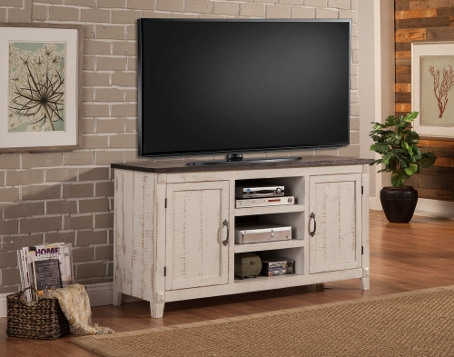 Mesa 63-inch Console - 2 Tone - Antique White