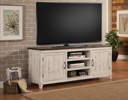 Mesa 76-inch Console - 2 Tone - Antique White