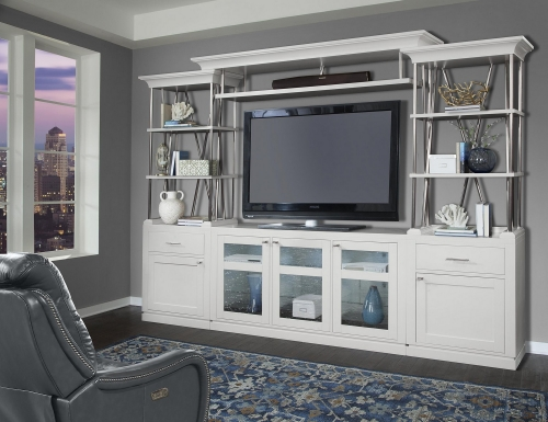 Skyline 4-Pc Entertainment Wall - Cottage White