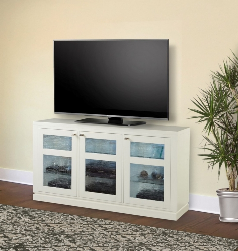 Skyline 65-inch TV Console with LED Light - Cottage White