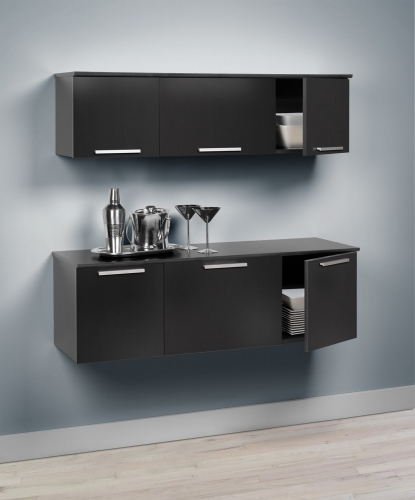 Coal Harbor Wall Mounted Buffet - Black