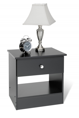 Edenvale 1 Drawer Night Stand - Black