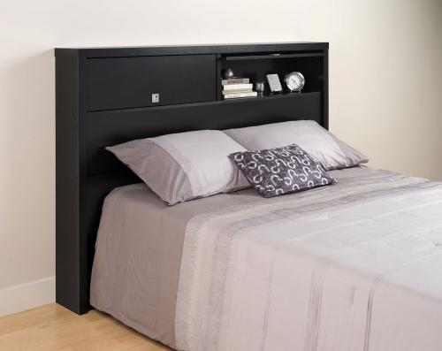 Series 9 2-Door Storage Headboard - Black