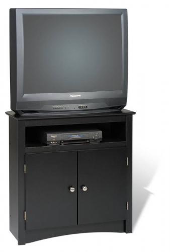 Black Sonoma Tall Corner TV Cabinet